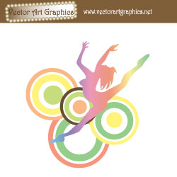 Dance Abstract Vector Image