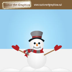 Snowman Vector Art Design