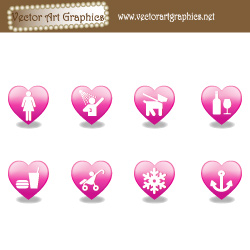 Heart Icons Vector Graphics