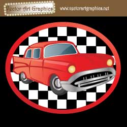 Oldies Diner Car Graphics