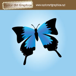 Blue Butterfly Vector Art Background
