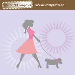 Dog Vector Background
