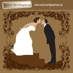 Wedding Vector Art Graphic - Bride and Groom